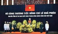 일부 해외 국가의 당과 정부 지도자들, 레 카 피에우 전 서기장 서거에 위로 서신 전달