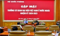 국방부 지도자, 해외 베트남 대표기관장들과 만남