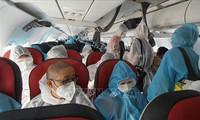 350명 이상의 일본발 베트남 국민 귀국