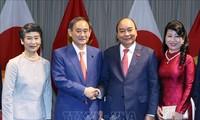 일본 언론, 스가 요시히데 일본 총리 베트남 방문 보도