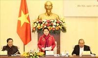 응우옌 티 낌 응언 국회의장, 국가선거위원회 2차 회의 주재