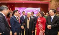 응우옌 푸 쫑 서기장-국가주석, 하노이시 당위원회, 시정부, 시민에 설날 축하 인사