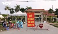 코로나19 방역을 위한 하이퐁시 교통병원 봉쇄
