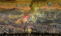 역사적 디엔비엔푸 승리 재현 대형 그림