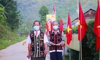 꽝남성 접경지역 및 쯔엉사현 유권자, 조기 투표 진행