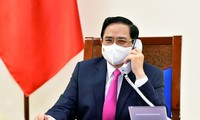 팜 민 찐 국무총리, 일본 스가 요시히데 총리와 전화 대담