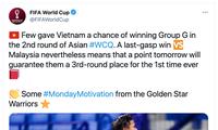 FIFA 월드컵 사이트: '베트남 국가대표 축구팀이 새로운 하루의 동기를 부여'