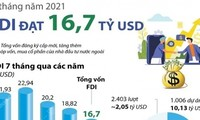 등록 FDI 자본금, 연초부터 현재까지 167억 달러 달성