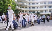 꽝닌성 의료진 500명, 하노이 코로나19방역 지원
