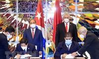 베트남-쿠바 전면적 협력 단결 관계 강화