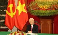 응우옌 푸 쫑 서기장, 시진핑 중국 서기장-국가주석과 전화 통화