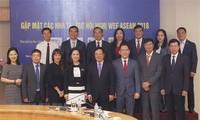 WEF ASEAN 2018៖ សហគ្រាសរួមដំណើរជាមួយរដ្ឋាភិបាលរៀបចំ WEF ASEAN