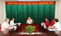 អគ្គលេខាបក្ស ប្រធានរដ្ឋវៀតណាម លោក Nguyen Phu Trong អញ្ជើញជាអធិបតីកិច្ចប្រជុំជាមួយថ្នាក់ដឹកនាំសំខាន់ៗនៃបក្សនិងរដ្ឋវៀតណាម