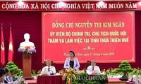 ប្រធានរដ្ឋសភាវៀតណាមលោកស្រី Nguyen Thi Kim Ngan អញ្ជើញជួបធ្វើការ ជាមួយថ្នាក់ដឹកនាំខេត្ត Thua Thien Hue