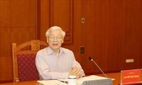 អគ្គលេខាបក្ស ប្រធានរដ្ឋវៀតណាមលោក Nguyen Phu Trong អញ្ជើញធ្វើជា អធិបតីនៅកិច្ចប្រជុំគណៈកម្មាធិការមជ្ឈឹមទទួលបន្ទុការងារប្រយុទ្ធប្រឆាំងនឹងអំពើពុករលួយ