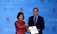 វៀតណាមសន្យាបន្តកិច្ចសហប្រតិបត្តិការយ៉ាងសកម្មនិងជិតស្និទ្ធជាមួយអង្គការពាណិជ្ជកម្មពិភពលោក (WTO)