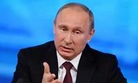 ប្រធានាធិបតីរុស្ស៊ី Vladimir Putin ធ្វើអធិបតីសន្និសីទកាសែតជាប្រចាំនៅម៉ូស្គូ