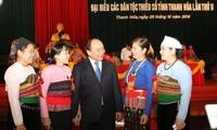 ឧបនាយករដ្ឋមន្ត្រី Nguyen Xuan Phuc អញ្ជើញចូលរួមមហាសន្និបាតបណ្ដាជនជាតិភាគតិចខេត្ត Thanh Hoa