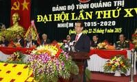 នាយករដ្ឋមន្ត្រីរដ្ឋាភិបាលវៀតណាមអញ្ជើញជាអធិបតីមហាសន្និបាតបក្សភាគខេត្ត Quang Tri