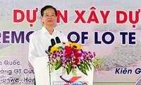 នាយករដ្ឋមន្ត្រីវៀតណាមអញ្ជើញចូលរួមពិធីបើកការដ្ឋានសាងសង់ផ្លូវតភ្ជាប់ Can Tho និងខេត្ត Kien Giang