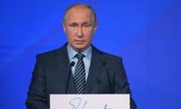 ប្រធានាធិបតីរុស្ស៊ី លោក Vladimir Putin អានសារសហរព័ន្ធឆ្នាំ ២០១៦