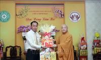 Departemen Agama Pemerintah Sampaikan Ucapan Selamat Hari Raya Tet kepada Ketua Dewan Pengurus Sangha Budha Vietnam