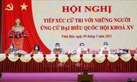 Ketua MN Vuong Dinh Hue Kontak dengan Pemilih Kota Haiphong.