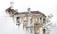 白梅广播站古老别墅的建筑美