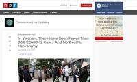 国际媒体:越南反应迅速并帮助其他国家应对新冠肺炎疫情