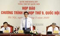 越南第14届国会第9次会议议程新闻发布会举行