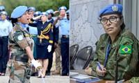 联合国向两名女维和军人颁奖