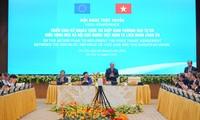 阮春福总理主持越欧自贸协定实施计划全国视频会议
