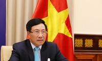 越南政府副总理兼外长范平明出席联安理会高级别视频公开辩论会
