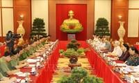 越共中央政治局与中央公安党委常务委员会就越共中央公安第7次党代会筹备工作举行会议