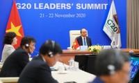 阮春福总理出席以视频方式举行的二十国集团领导人峰会