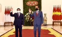 越南政府总理范明政与印尼总统佐科·维多多举行双边会晤