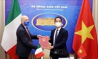 越南和意大利加强高级领导人代表团互访