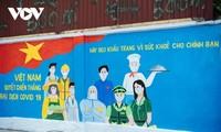 河内独特的防疫宣传壁画街