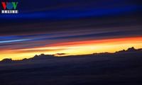 Enjoying the sunset from 10,000 metres