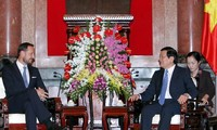 President Truong Tan Sang receives Norway's Crown Prince
