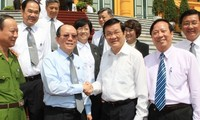 President Truong Tan Sang has a working session with Vietnam Bar Confederation