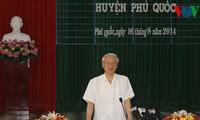 Party General Secretary Nguyen Phu Trong visits Phu Quoc island