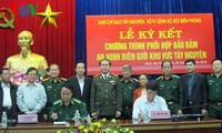 Cooperative program signed to enhance border security in Central Highlands