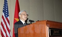 Party leader visits Vietnamese Embassy in the US