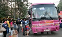 Free bus trips for disadvantaged workers to return home for Tet