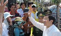 President Truong Tan Sang visits Ly Son island district