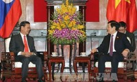 President Truong Tan Sang receives Lao Deputy Prime Minister
