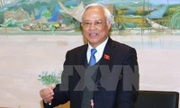 National Assembly Vice Chairman receives Lao Justice Minister