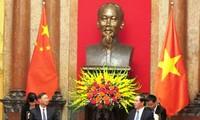 President Tran Dai Quang receives Chinese State Councilor Yang Jiechi