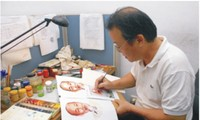 Artist Do Lenh Tuan makes inspiring pictures out of postal stamps